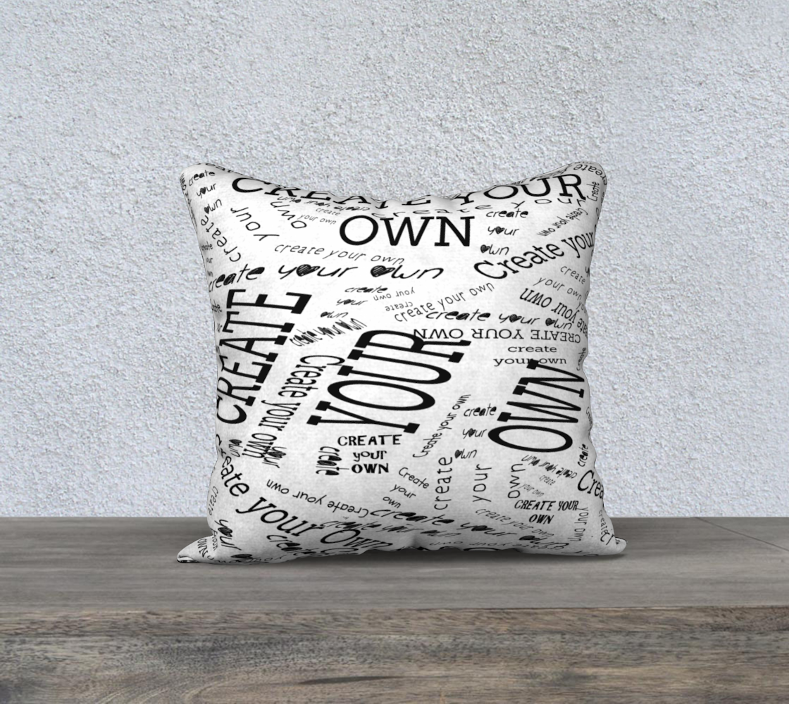 Create Your Own 18x18 Pillow - Artified Apparel