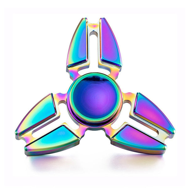 Rainbow Colour Aluminum Fidget Spinner - Artified Apparel