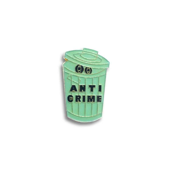 Anti Crime Vintage Pin