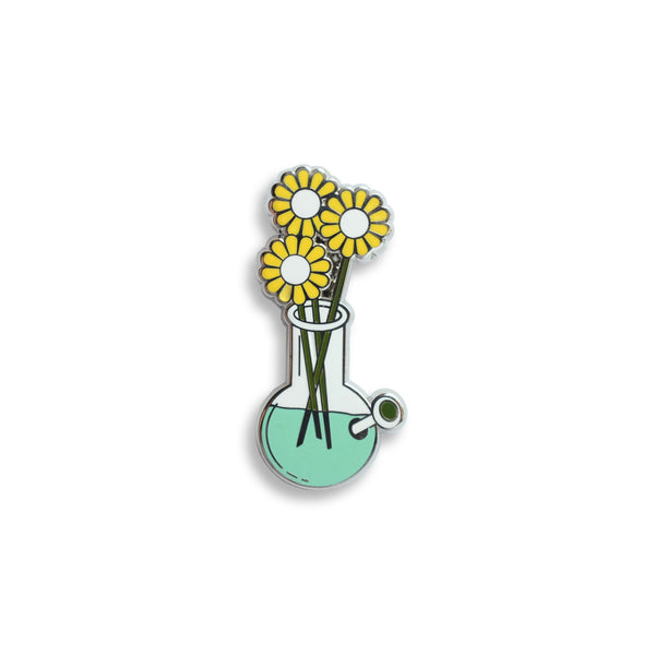 Gma's Vase Pin Yellow