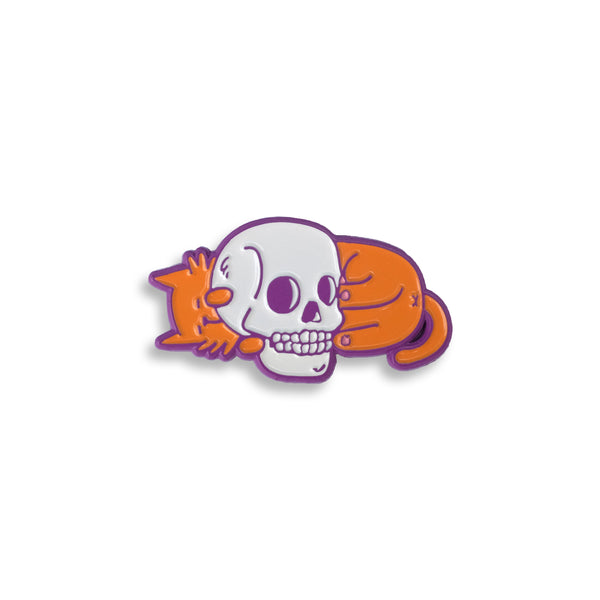 Kitty Skull Pin