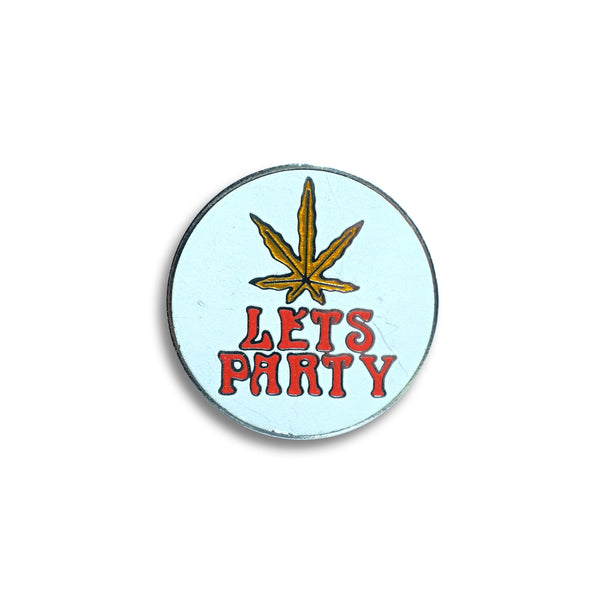 Let's Party Vintage Pin