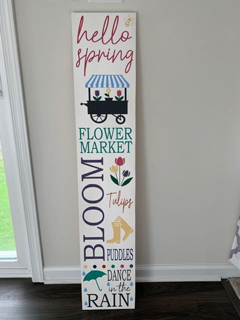 Hello Spring Porch Sign Kit