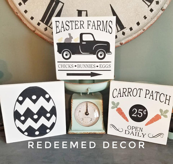 DIY Wood Sign Kit for Easter! Set of 3