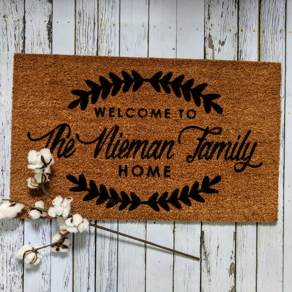"""Welcome to the Family Home"" Doormat"