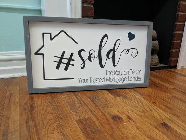 Realtor Marketing Sign - # Sold