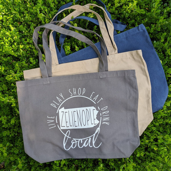 Canvas Tote bag- Live Play Shop Eat Drink Local