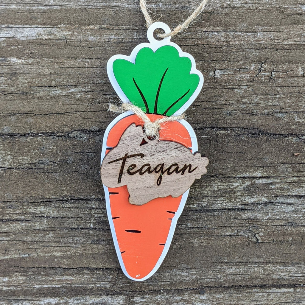 Customized Easter Basket Tags- carrot or bunny!
