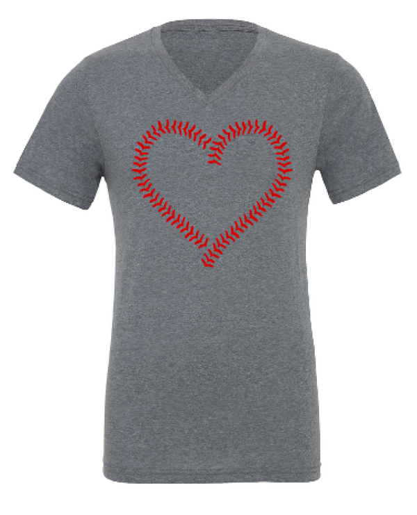 Baseball Heart in Stitches- NEW Design!