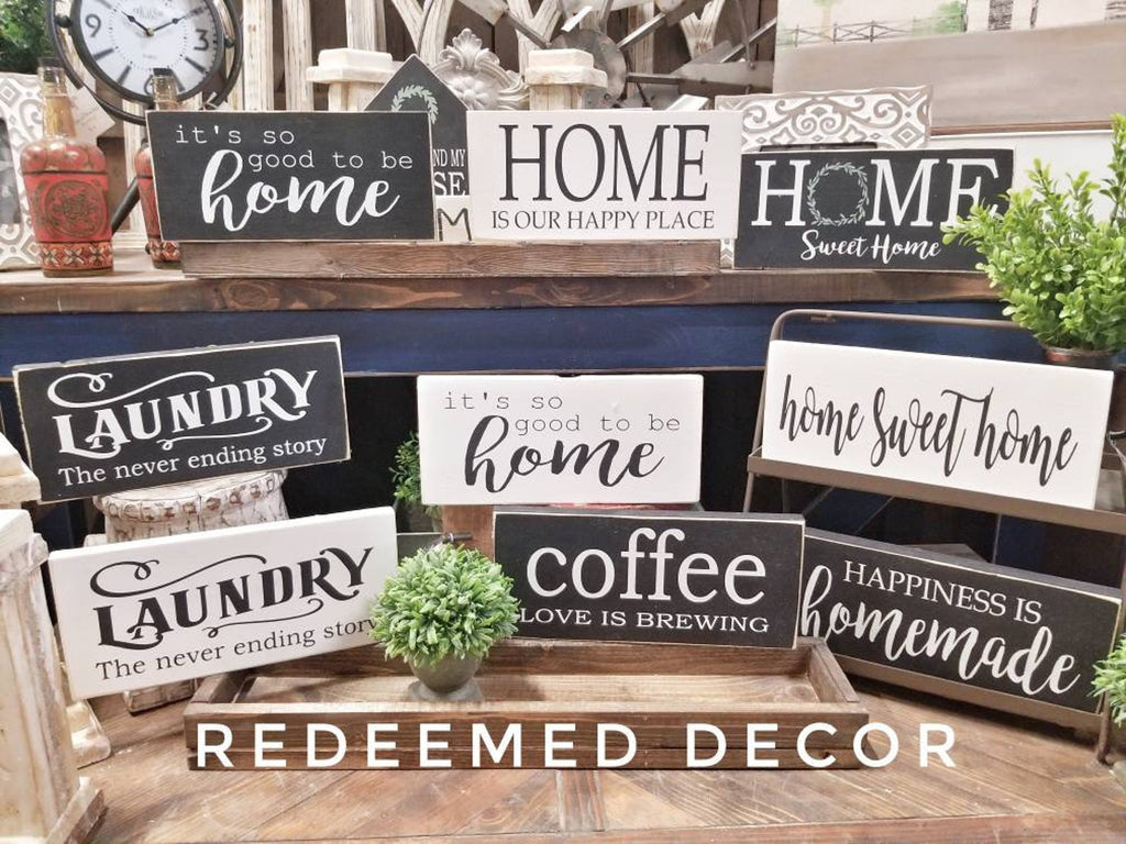 "DIY Wood Sign Kits for the home! 6""x12"""