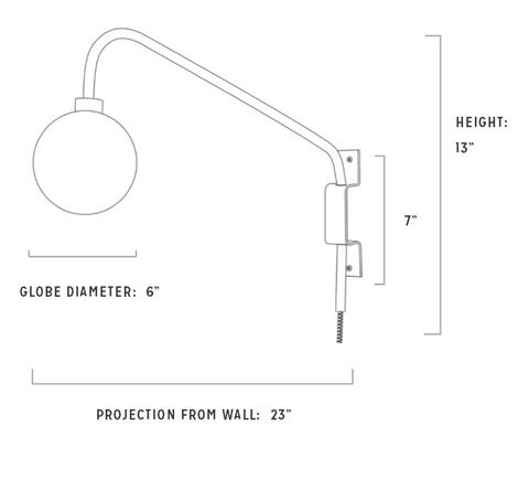 Maxwell Sconce Specs