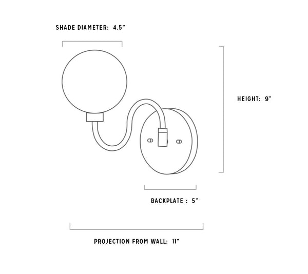 Aria Swivel Sconce Specs