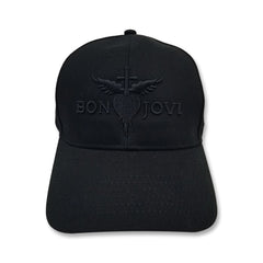 Heart & Dagger Embroidered Black Hat