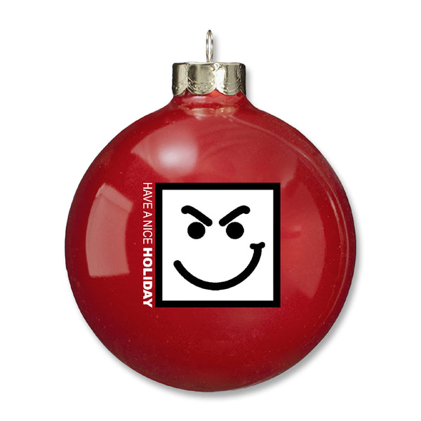 Nice Holiday Ornament - Red
