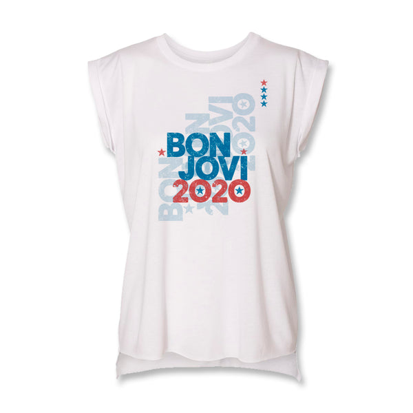 2020 Overprint Ladies Muscle T-Shirt