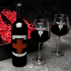 Official Bon Jovi Bad Medicine Collectible Etched Wine
