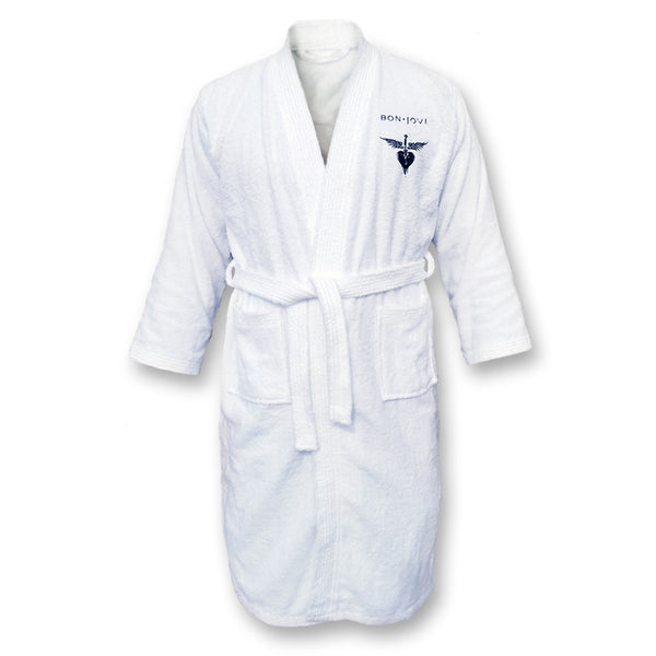 Embroidered Logo Terrycloth Bath Robe