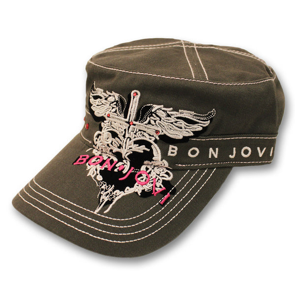 Bon Jovi Embroidered Cadet Cap - Women's