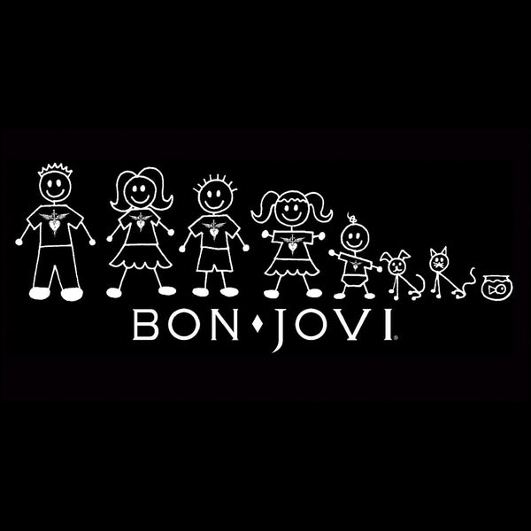 Official Bon Jovi Stick Family Decal Sticker