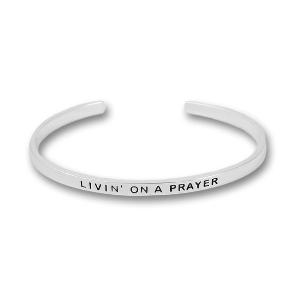 Livin' On a Prayer Silver Plated Bangle
