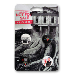 Official Bon Jovi This House Is Not For Sale Button Pack