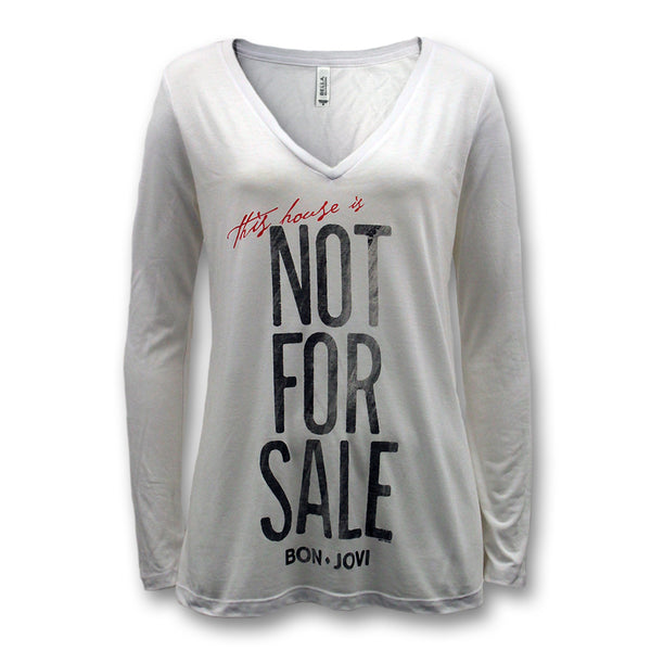 Official Bon Jovi Not For Sale Longsleeve V-Neck T-shirt