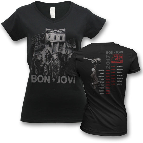 Official Bon Jovi 2017 This House Is Not For Sale Tour T-shirt