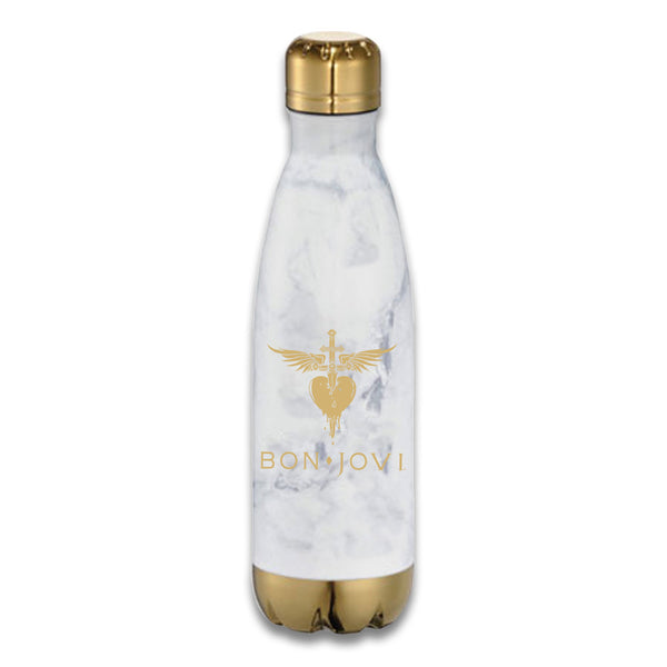 Official Bon Jovi Stainless Steel Heart Dagger Water Bottle