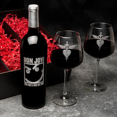 Click here to purchase this Official Bon Jovi Have A Nice Day Collectible Etched Wine