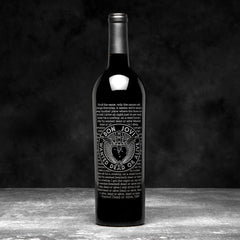 DEAD OR ALIVE - BEST OF BON JOVI ETCHED WINE