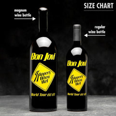 Official Bon Jovi Slippery When Wet Special Edition Etched Wine