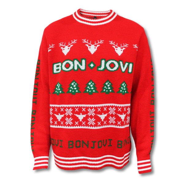 Official Bon Jovi Knitted Holiday Sweater