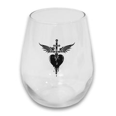 Heart & Dagger Stemless Glass