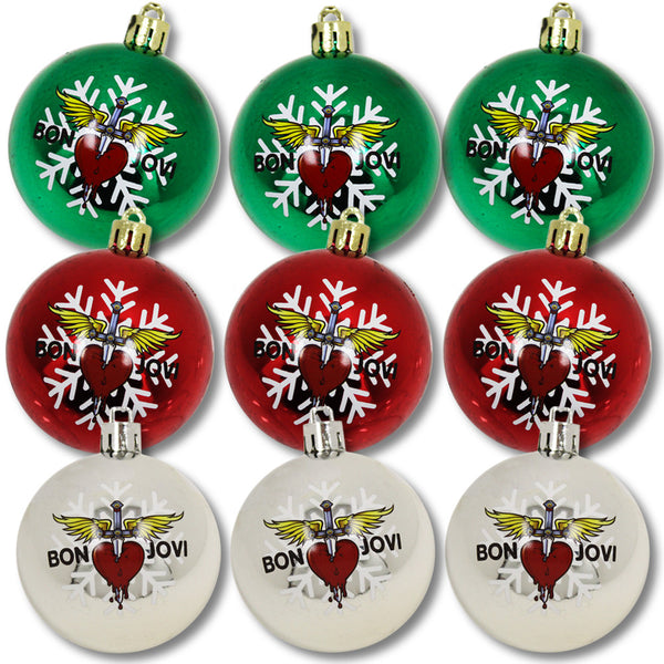 Official Bon Jovi Holiday Ornament Set (9pcs)