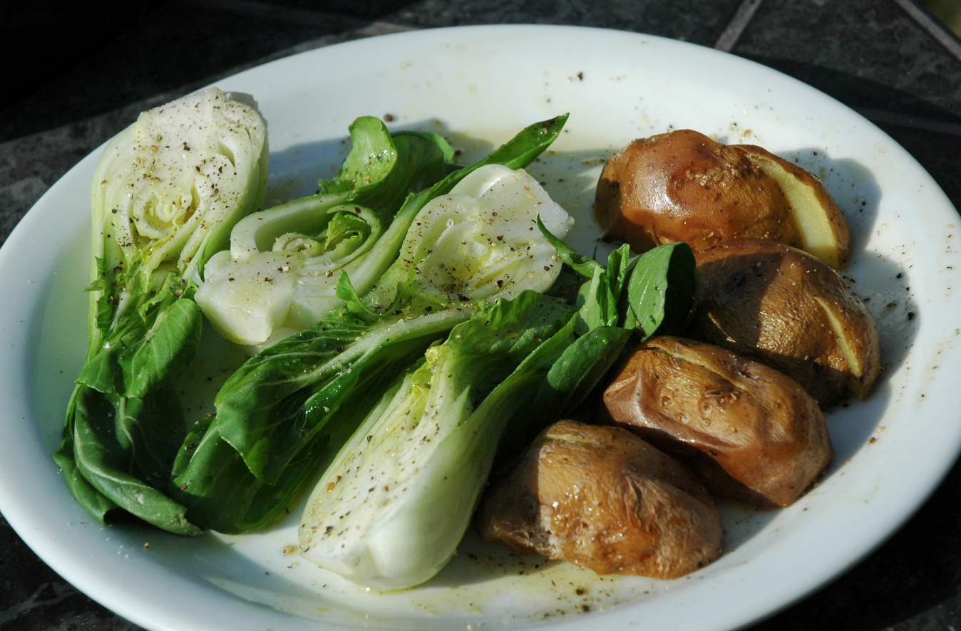 Grilled Bok Choy and Potatoes Recipe