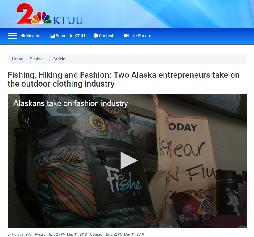 Fishe Wear on KTUU!