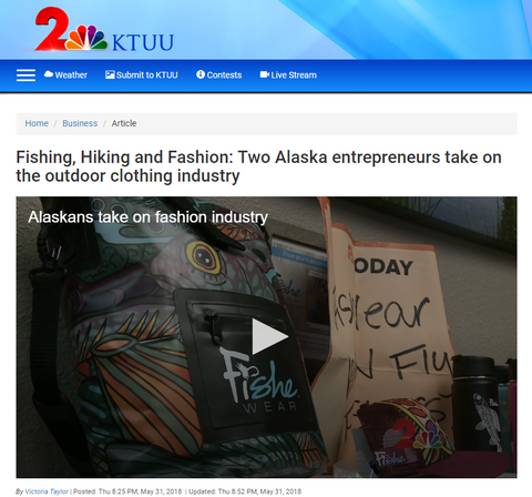 Fishe Wear on KTUU channel 2 news