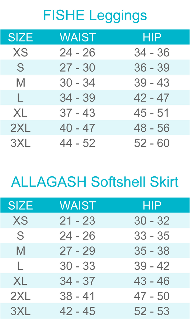 Fishe wear leggings sizes allagash softshell skirt colorful fun