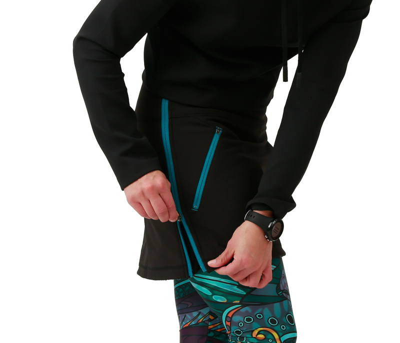Skirt side zipper fishe wear allagash softshell fleece-lined blue teal flyfishing fishing