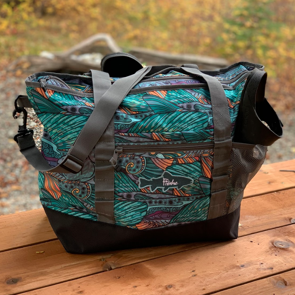 weekender bag in use