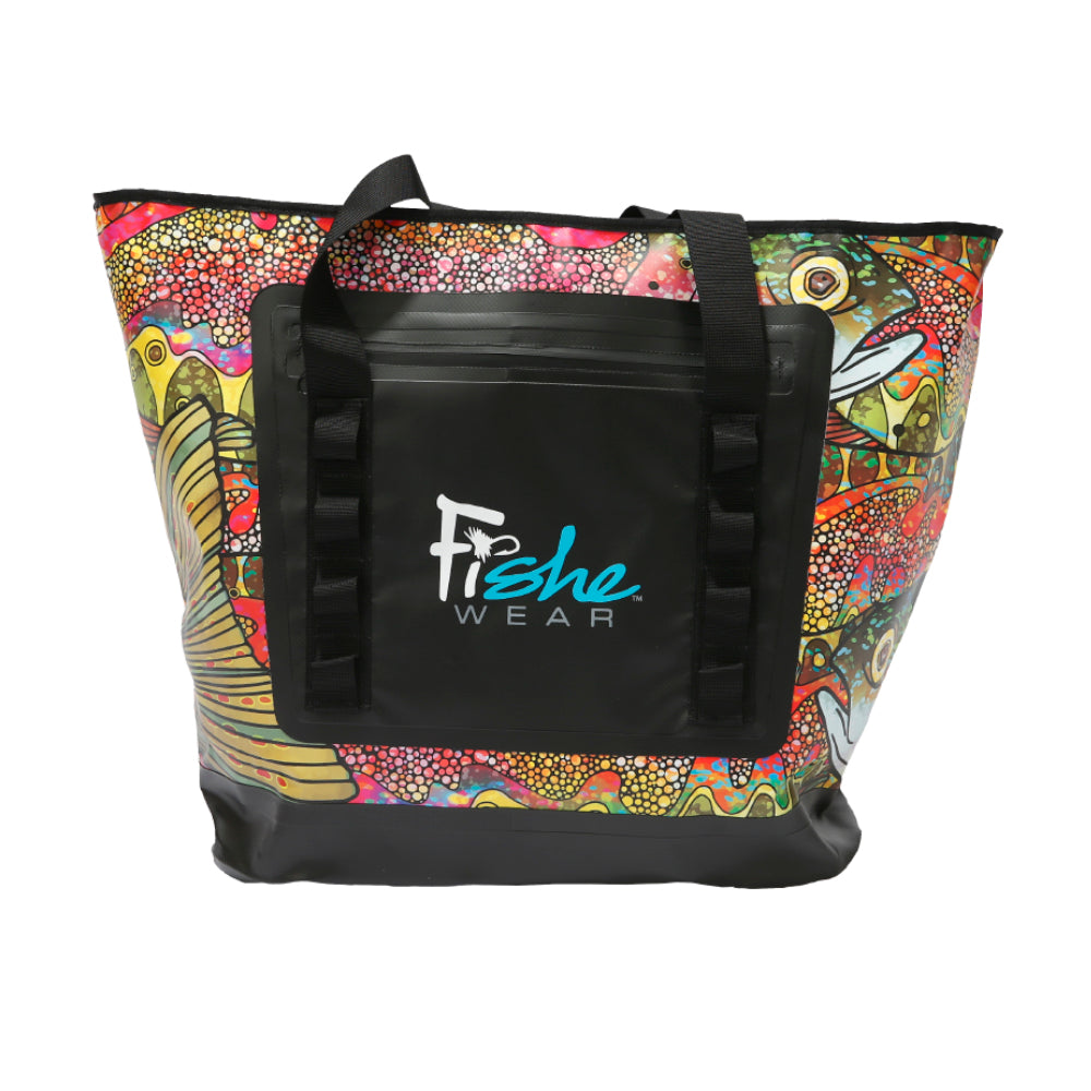 Troutrageous Rainbow Wedge Tote