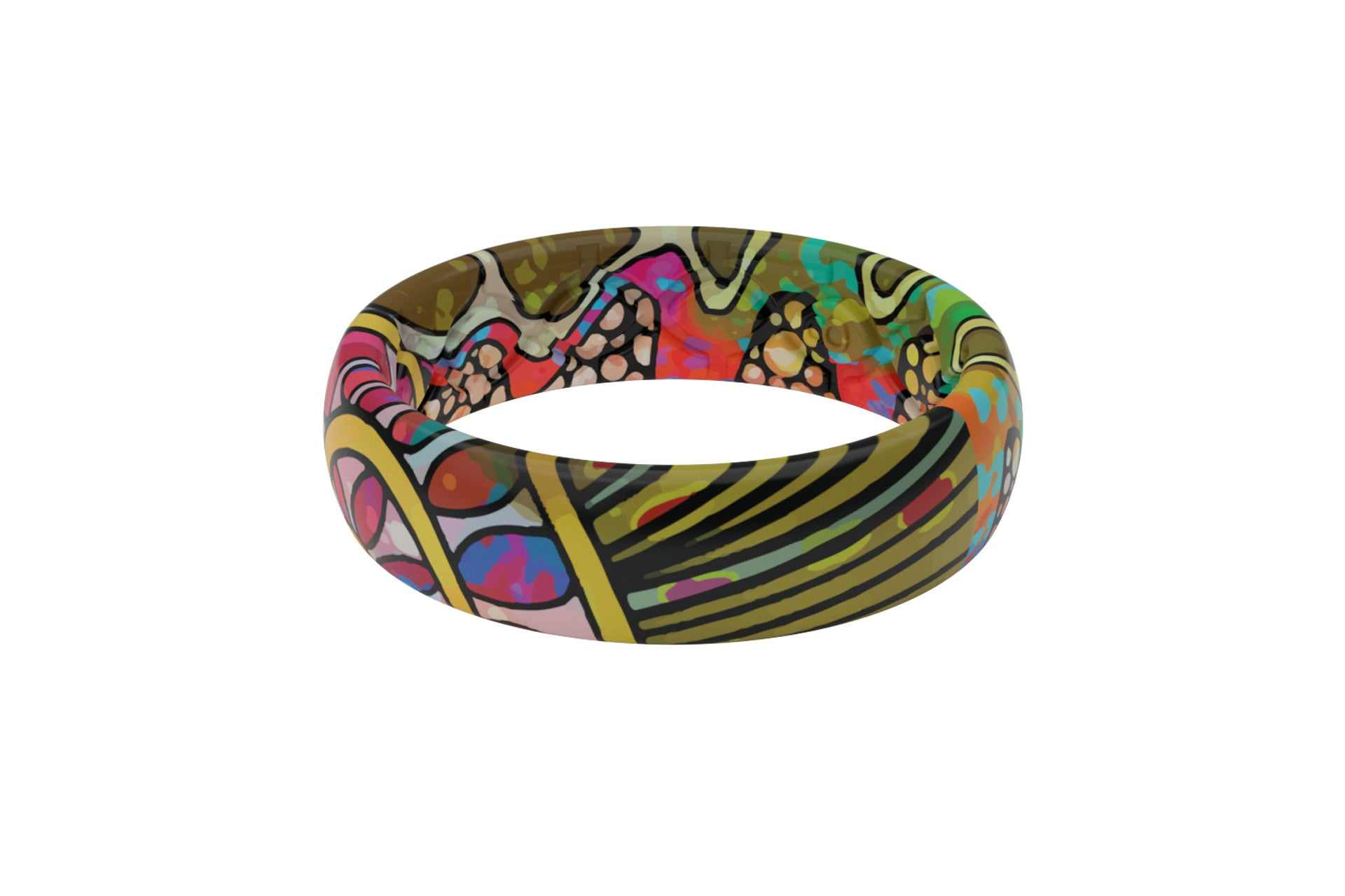 Troutrageous Rainbow Groove Ring