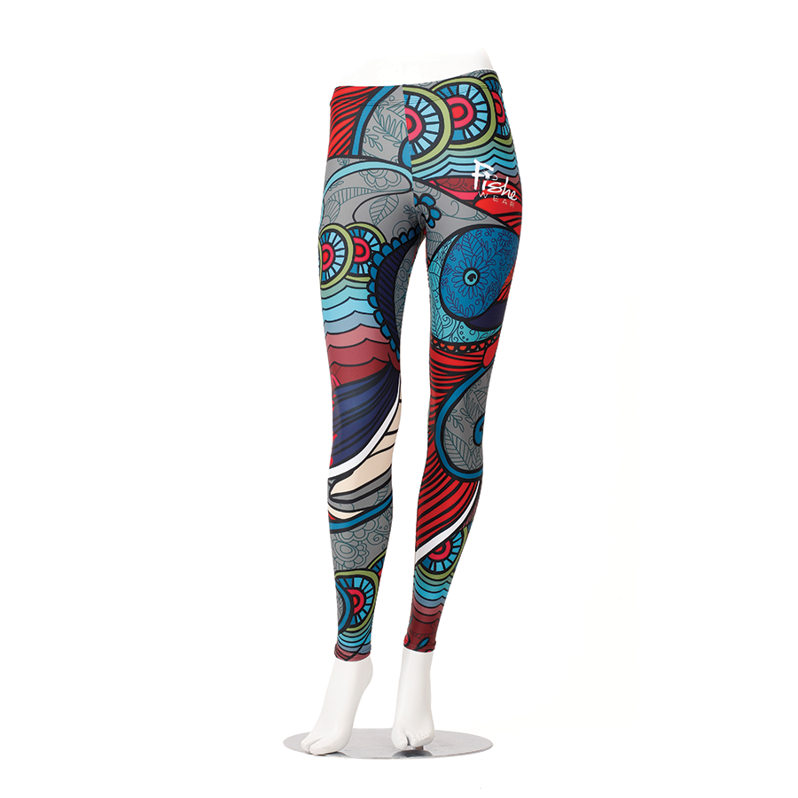Abstract Char Leggings
