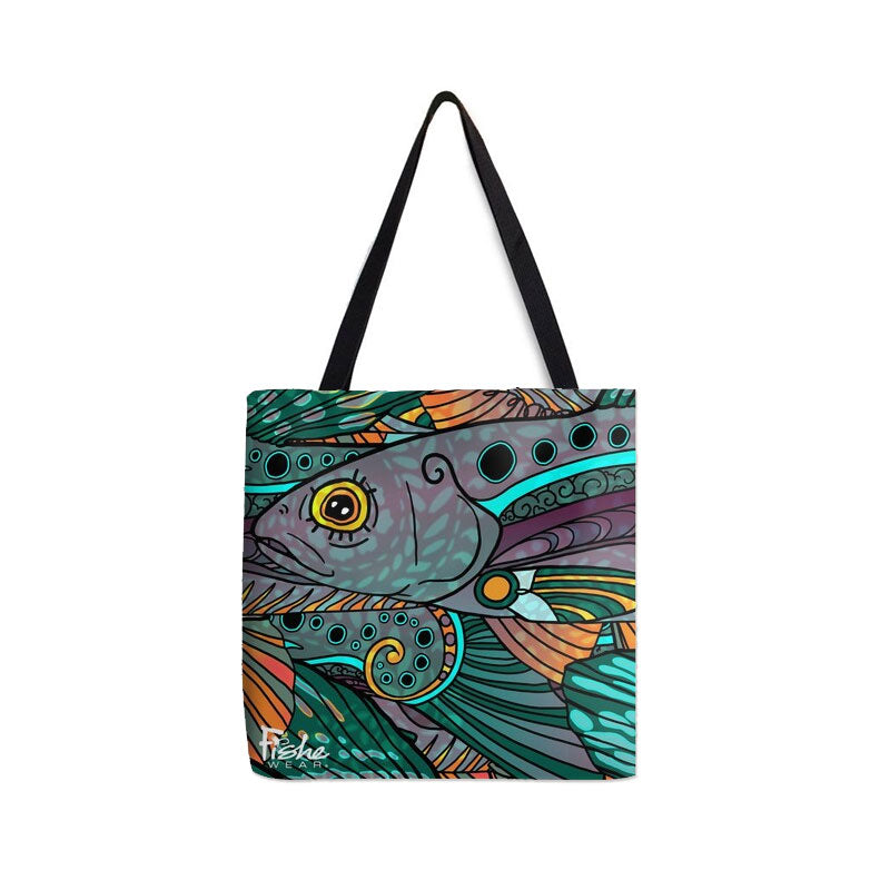 Tote- Groovy Grayling Design