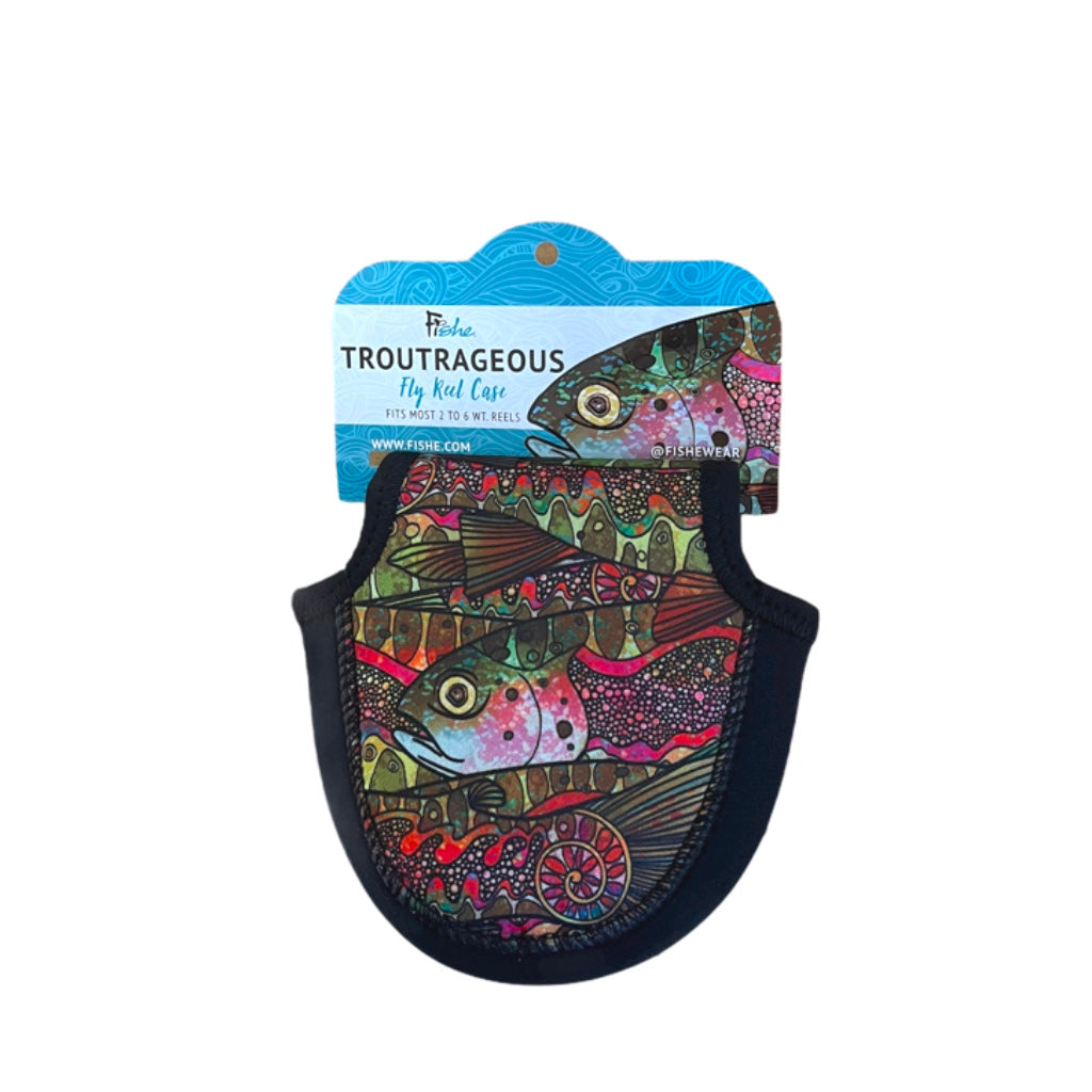 Troutrageous Rainbow Reel Case Small