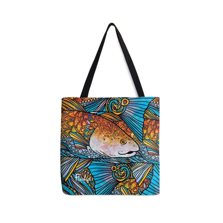 Tote- Radical Red Fish Design