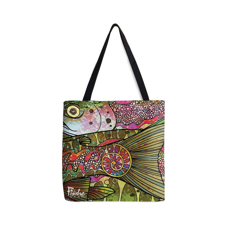 Tote- Troutrageous Rainbow Design