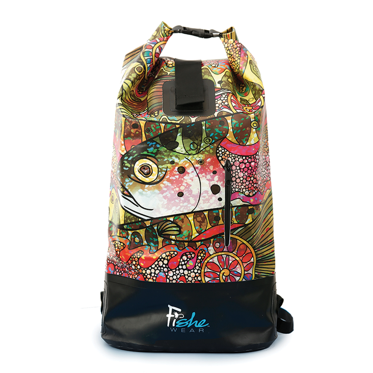 Dry Bag Backpack - Troutrageous Rainbow