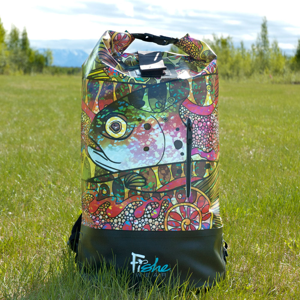 Troutrageous Rainbow Dry Bag Backpack