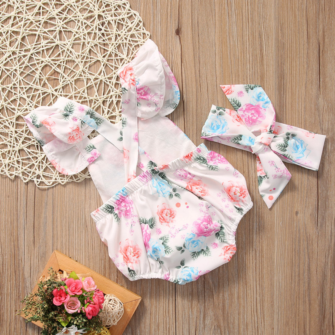 ed6a55422 Adorable Floral Baby Romper - 60% OFF - Favorite e-Store